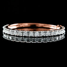 0.25 Cttw Real Diamond Wedding Eternity Ring 18k Gold Over Sterling Silver