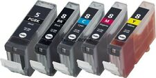 5 Pack PGI-5 CLI-8 BCMY Ink for Canon PIXMA MP500 MP530 MP600 MP610