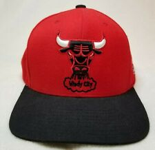 Red Chicago Bulls Windy City Snapback Graphic Hat Cap Mitchell & Ness NBA