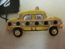Swarovski Swan Yellow Taxi Cab Brooch New with Tag Very Rare Hard to Find  278