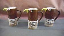 Vintage Lot of 3 1970 SMIRNOFF HAWK SHOT Totem Pole Style Advertising Mug Cup