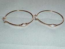Hoop Pierced Earrings Gypsy Gold Tone