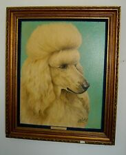 RON ROPHAR Vintage 1978 Original Show Dog Champion Kalis Appolo Oil Painting