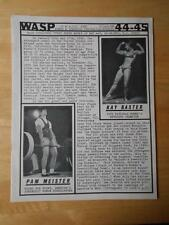 WASP #44-45 female bodybuilding muscle booklet/KAY BAXTER & PAM MEISTER 1980