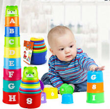 Non-toxic Exploit IQ Toy Educational Baby Toddler Child Kid Stacking Cups Gift