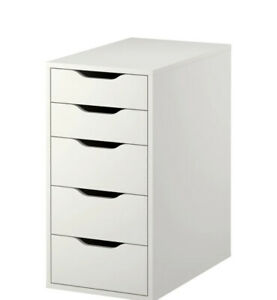 Brand New IKEA ALEX White Drawer Unit Office Storage Organizer 101.928.24