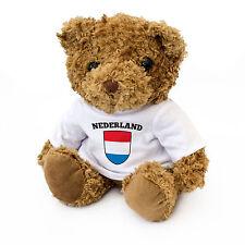 NEW - Netherlands / Holland / Dutch Flag Teddy Bear - Present Fan Gift