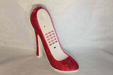 High Heel Shoe Telephone with Rhinestone Bling in Hot Pink N 298