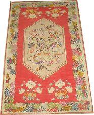 Antique Happy Turkish Ghiordes Oushak Ushak Rug Size 3'9''x6'2''