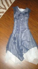 MONKEY WEAR 7 LONG GORGEOUS BLUE GIRLS DRESS SILK