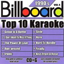 NEW - Billboard Top-10 Karaoke - 1990's Vol. 4 (10+10-song CD+G)