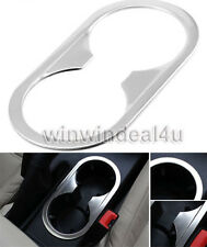 STAINLESS STEEL CAR CUP HOLDER FRAME TRIM COVER STICKER FOR VW JETTA MK6 12-14