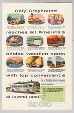 Greyhound '50s Bus Travel Transportation Advertisement Print Ad Vintage 1953