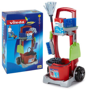 Vileda Junior Children's Cleaning Mop Sweeping Brush Tools Set Pretend Play Toy