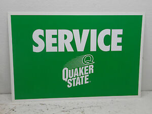 Quaker State Oil  (service) Sign  1 Sided 24x16