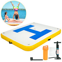 Inflatable Floating Dock Durable Lounge 3mx2.5m Activity Platform Water Play