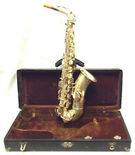 Vintage 1920's King H.N. White Silver Plated Alto Saxophone - Make an Offer!