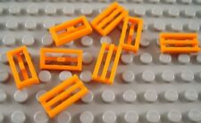 LEGO New Lot of 4 Bright Light Orange 1x4 Smooth Jungle Tile Pieces