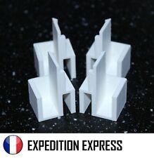 KIT 4 GUIDES PORTE COULISSANTE G/D HAUTS BLANC RAIL PLACARD FORM/OPTIMUM EP.10mm