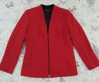 EUC Lafayette 148 Tara Front Zip 100% Virgin Wool Jacket  Blazer women's size 8