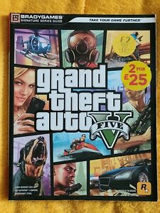 Grand Theft Auto V GTA BradyGames Official Game Guide - GC - BS4