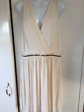 Topshop Tall Cream Grecian Style Dress Size 16 BNWT