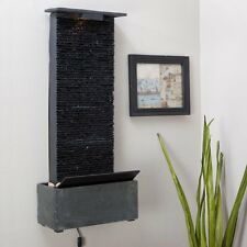 Bedrock Falls Lighted Wall Mounted Water Fountain Indoor Home Living Tabletop