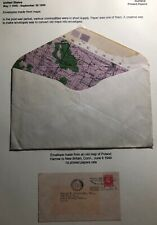 1949 Harrow England Old Map Envelope Cover To New Britain CT USA Slogan Cancel