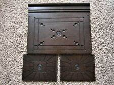1800s Oak Bullseye Carved Architectural Panels Ornate Victorian Furniture Parts