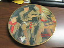 The Campfire Story Norman Rockwell Boy Scout Plate