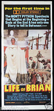 LIFE OF BRIAN 1979 John Cleese VINTAGE Australian daybill Movie poster Dolby