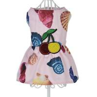 Lovely Pet Small Dog Puppy Sleeveless Conch Print Summer Dress Apparel H