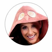Womens Ladies Medium Dark Pink Hooded Onesie Fleece All in One Winter Warm