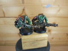2 CLASSIC METAL WARHAMMER ORK EAVY BOYS PAINTED (2881)
