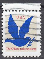 USA Briefmarke gestempelt The G Rate make-up stamp Taube Rand oben / 2214
