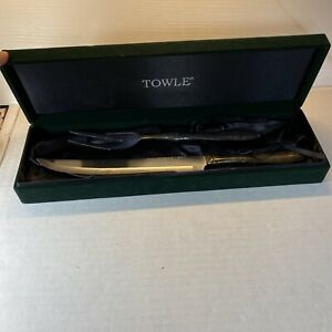 Vintage Towle Silver plated  Knife And Fork Carving Set Stainless Steel