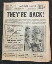 Apollo 11 Splashdown - Space - Moon Flight - 1969 Washington DC Newspaper