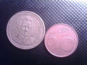 GREECE   5  CENTS  2009   20 DRACHMAI    1990      AUG07F