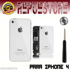 COVER REAR GLASS FOR IPHONE 4 WHITE SPARE ORIGINAL WHITE CASE