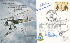 B5,70th Anniv Formation of LXX Squadron.Flown Hercules Signed 5 crew