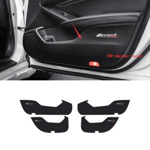 For Honda Accord 2018-19 Carbon Fiber Leather Door Anti-Kick Pad Protective Trim