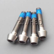 4pcs M5 x 25 mm Titanium Ti Screw Bolt Allen Hex Taper Socket Cap Head + Blue