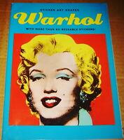 2009 ANDY WARHOL STICKER ART SHAPES MARILYN MONROE GRAPHIC POP ART BOOK