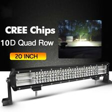 10D Quad-Row 20inch 1560W LED Light Bar Flood Spot Offroad For Ford SUV Driving