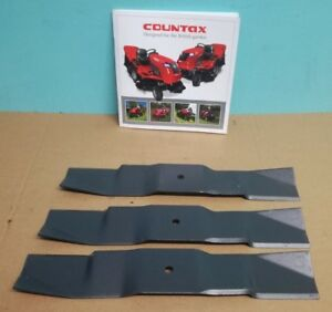 """GENUINE Westwood Countax Tractor 38"""" Combi Mulching Blade Set (x3) FREE DELIVERY"""