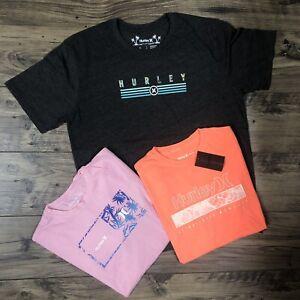"""3"" Hurley Mens T-Shirt Bundle w/Minor Defects SZ. Large Brand New"
