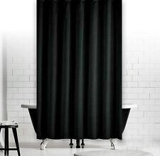 Rideau de douche en tissu uni noir 180 x 230 cm extra longueur incl. anneaux