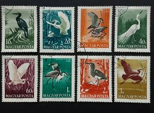 Hungary  1959 - Water Birds  set of 8 used stamps SG1574 - 1581