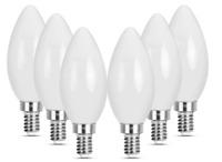 E12 LED 40W Candelabra Bulbs, 4W Filament Candle Light Bulbs, 2700K Warm Yellow
