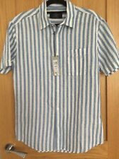 Marks & Spencer Men's Short Sleeve Linen Shirt Small BNWT RRP £29.50